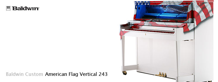American Flag Vertical 243 Baldwin Custom