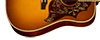 50th Anniversary 1960 Hummingbird Shown in Heritage Dark Cherry Sunburst