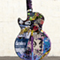 Gibson GuitarTown - Sunset Strip  - Collaborative Street Art Guitar by Collaborative Street