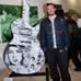 Guitar: Moms Not Bombs - Artist: Tristan Eaton