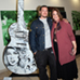 Guitar: Moms Not Bombs - Tristan Eaton with Karmen Beck-l Managing Director at Sunset Strip Music Festival