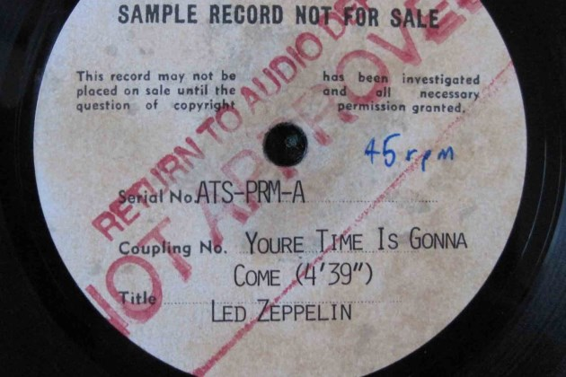 Led Zeppelin acetate