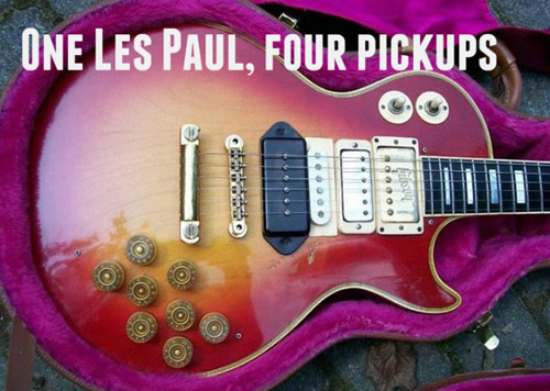 crazy Les Paul guitar modification