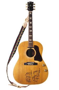 John Lennon's Gibson J 160 E acoustic guitar