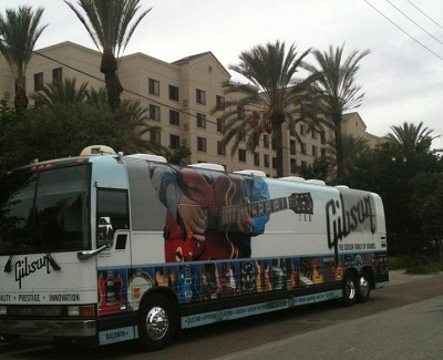 NAMM Gibson Bus