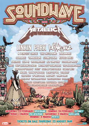 Soundwave Festival poster