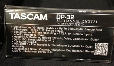 Tascam DP-32 specs