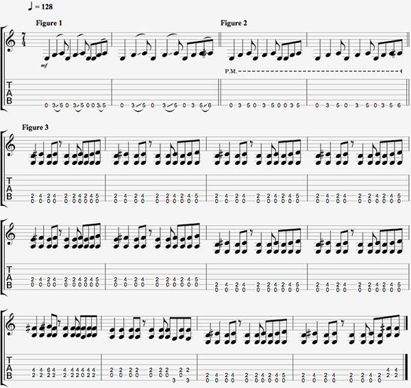 7/4 time signature tablature