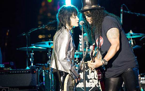Joan Jett and Slash