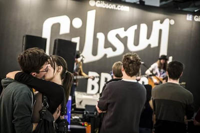 Gibson Booth at Musikmesse
