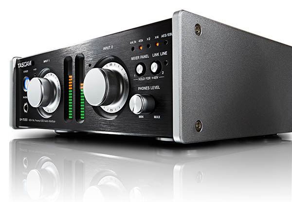 Fig. 1: TASCAM's UH-7000 interface costs more than budget interfaces, but places an emphasis on premium components and best-in-class specifications.