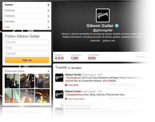 Gibson Social Media example