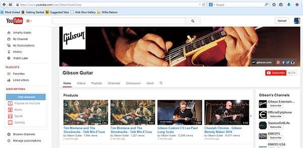 Gibson YouTube