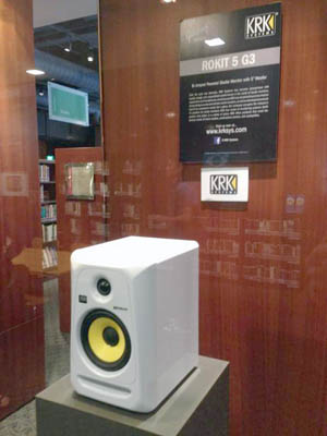 KRK Rokit 5 display booth up-close