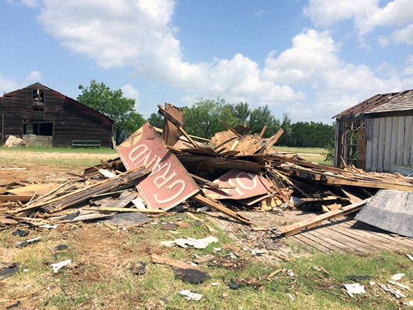 Willie Nelson's destroyed ranch