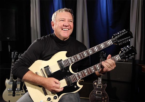 Alex Lifeson of RUSH in the studio in Nashville