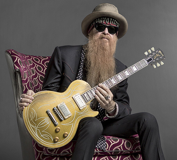 Billy Gibbons with Les Paul guitar