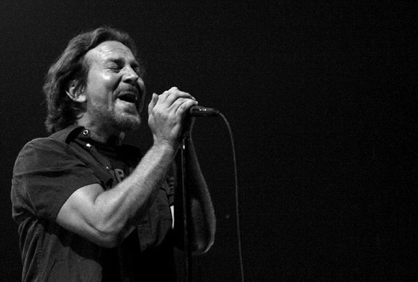 Eddie Vedder of Pearl Jam by Anne Erickson