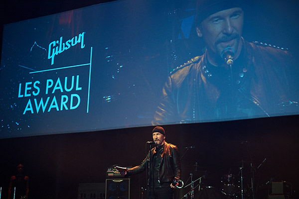 U2 Edge Les Paul Award 2016