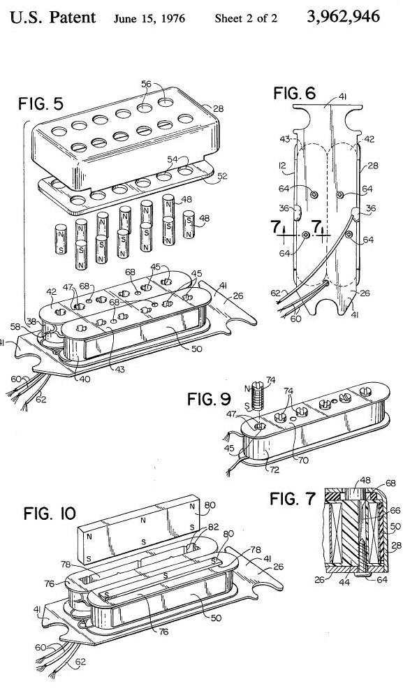humbucker patent 2 why gibson 'buckers are best gibson burstbucker pro wiring diagram at n-0.co