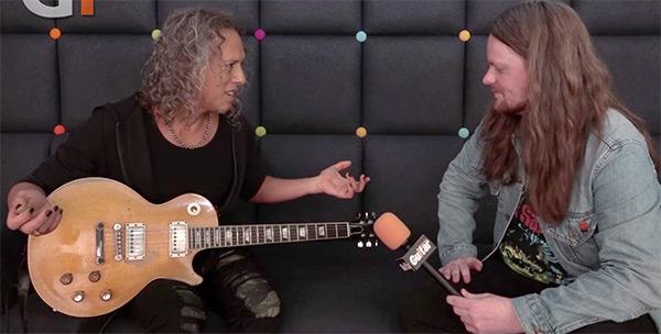 Kirk Hammett and Greeny Les Paul