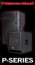 The Cerwin Vega! P-Series is a powerful, portable speaker system with lengendary Cerwin Vega! performance.