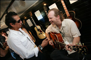 Alejandro Escovedo visiting backstage