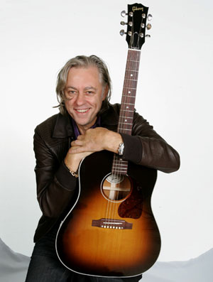 Sir Bob Geldof with a Gibson J-45 Acoustic
