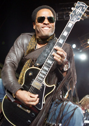 The history of the guitar face for Lenny kravitz gibson