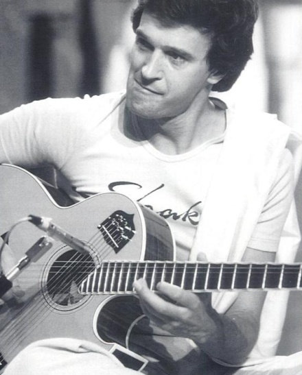 John McLaughlin with his 13-string Custom J-200