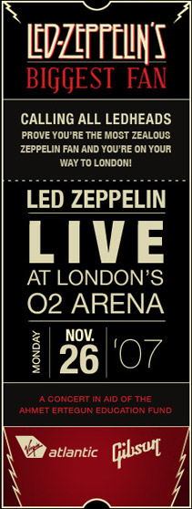Led Zeppelin's Biggest Fan Contest