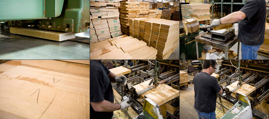 Gibson USA Rough Mill - Book-matching Tops