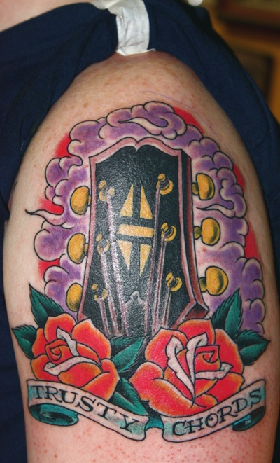 Gibson Guitar headstock tattoo
