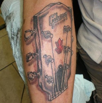 Gibson headstock tattoo