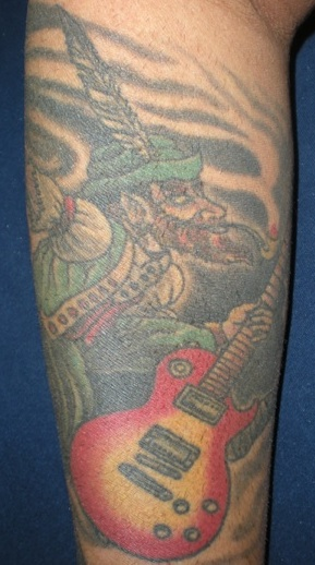 Leprechan-Les Paul Tattoo