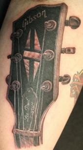 Les Paul headstock tattoo