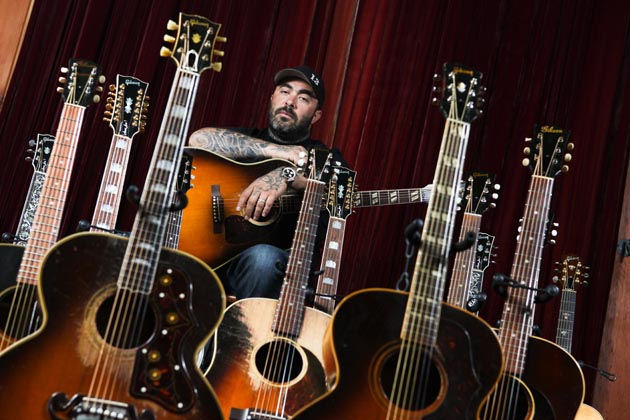 A Personal Tour Of Aaron Lewiss Guitar Collection