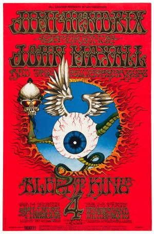 Jimi Hendrix - John Mayall Poster