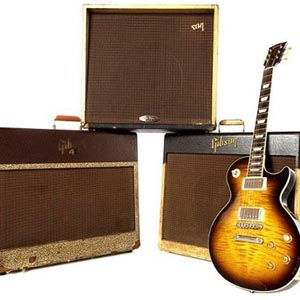 Gibson Amps and Les Paul guitar