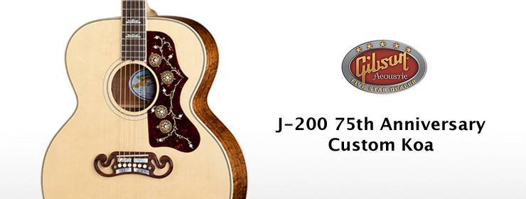 J-200 75th Anniversary Custom Koa