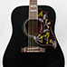 Corner Music - Gibson 5-Star Dealer - Black Hummingbird front