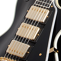 Gibson 20th anniversary 1957 les paul black beauty 3 pickup wired in the traditional manner for three pickup les paul customs it selects the neck pickup in the rhythm position middle and bridge together in the cheapraybanclubmaster Image collections