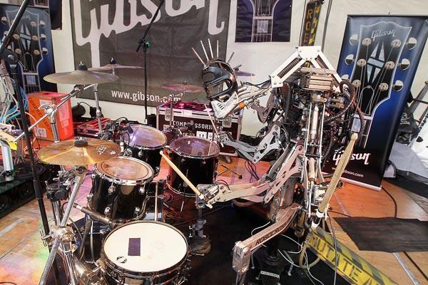 Gibson Musikmesse Compressorhead drummer