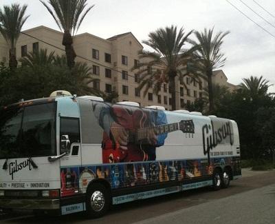 NAMM Gibson Bus