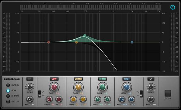 Sonar's QuadCurve EQ