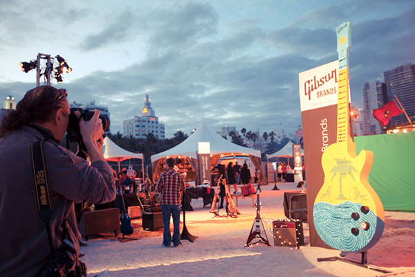 Gibson Brands at the South Beach Wine & Food Festival