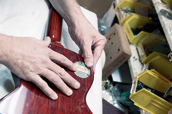 Gibson Custom Shop badges on guitars