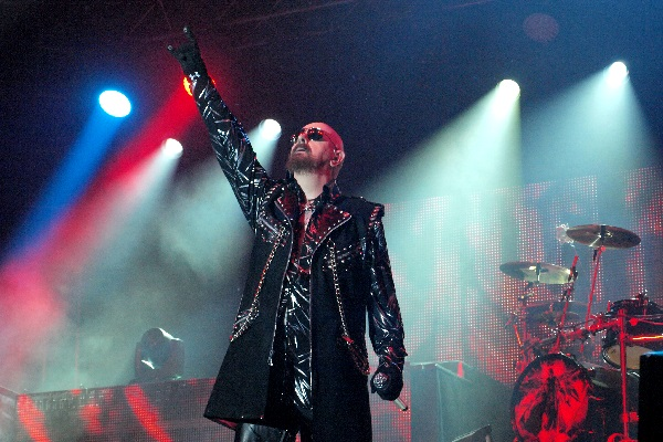 Rob Halford of Judas Priest by Anne Erickson