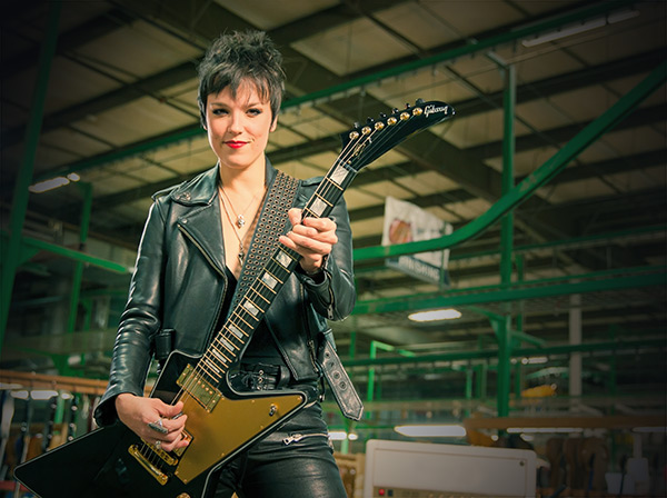 Lzzy Hale at Gibson