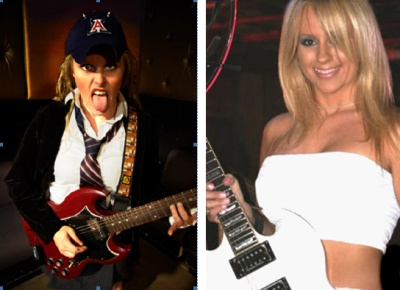 AC/DC cover bands Hell's Belles and Whole Lotta Rosies